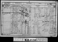 Sample 1881 census image