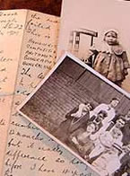 Montage of letter and photograph